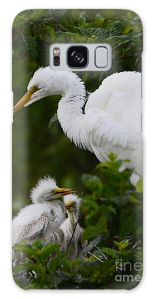 Proud Mom  Galaxy Case by Kathy Gibbons