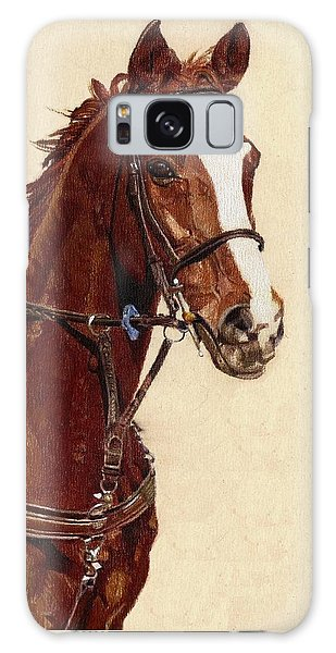 Proud - Portrait Of A Thoroughbred Horse Galaxy Case by Patricia Barmatz