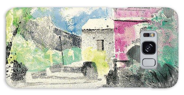 Provence Landscape Village Cucuron Galaxy Case by Martin Stankewitz