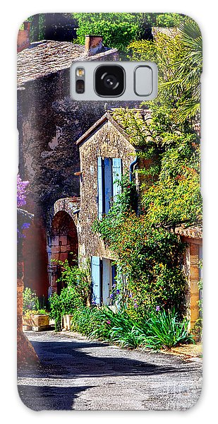 Provence Village Street In Spring Galaxy Case by Olivier Le Queinec