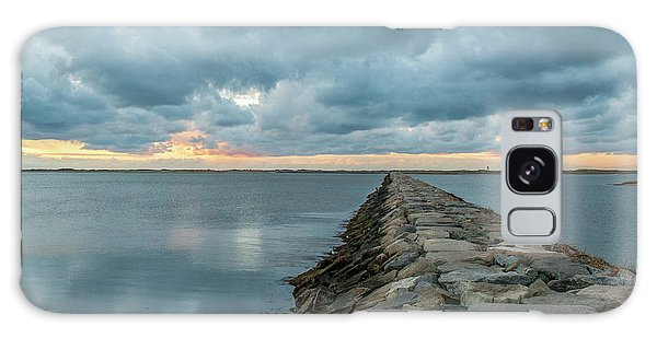Provincetown Breakwater #3 Galaxy Case
