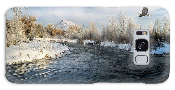 Provo River In Winter Galaxy Case