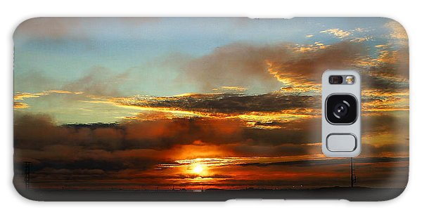 Prudhoe Bay Sunset Galaxy Case by Anthony Jones