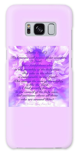 Psalm Eighty Nine Selected Verses Galaxy Case by Yvonne Blasy