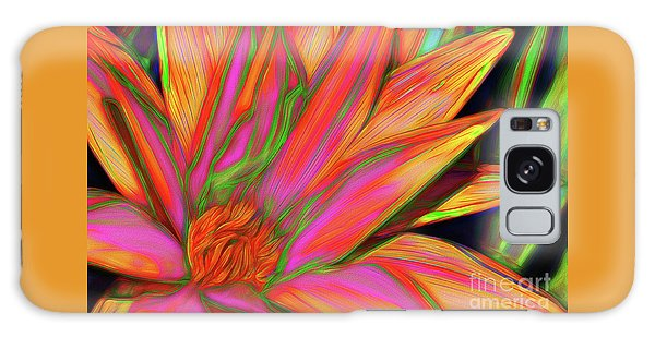 Galaxy Case featuring the photograph Psychedelic Daisy By Kaye Menner by Kaye Menner
