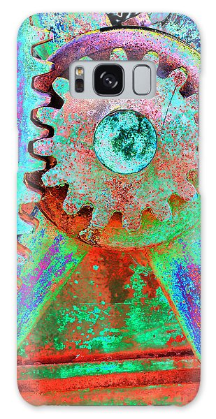 Psychedelic Gears Galaxy Case by Phyllis Denton
