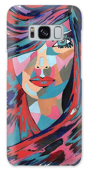 Psychedelic Jane Galaxy Case by Kathleen Sartoris