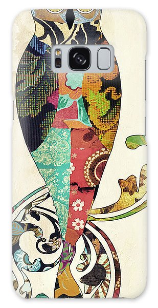 Tapestry Galaxy Case - Psychedelic Owl by Mindy Sommers