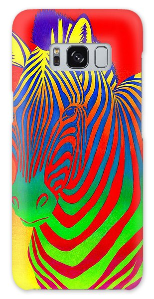 Psychedelic Rainbow Zebra Galaxy Case