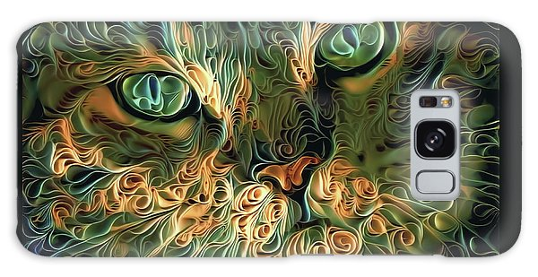 Psychedelic Tabby Cat Art Galaxy Case