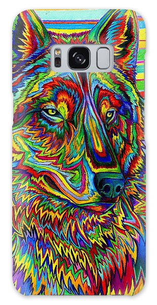 Psychedelic Wolf Galaxy Case