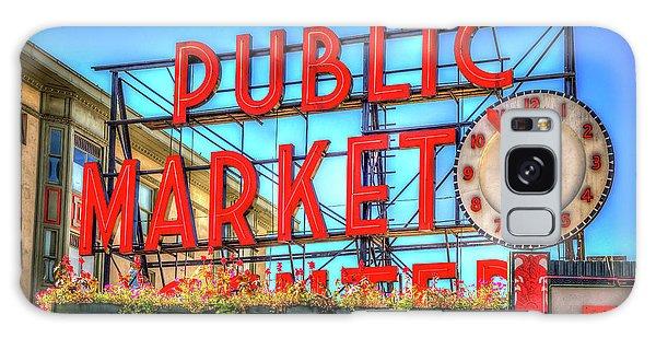 Public Market At Noon Galaxy Case by Spencer McDonald