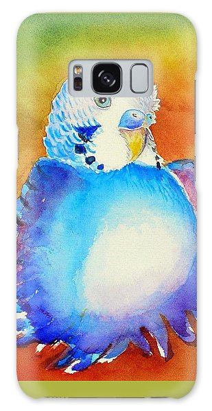 Pudgy Budgie Galaxy Case by Patricia Piffath