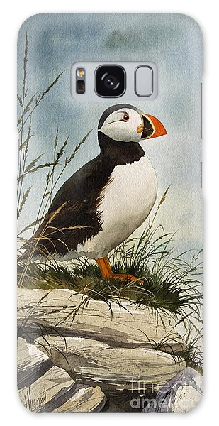 Puffin Galaxy S8 Case - Puffin by James Williamson