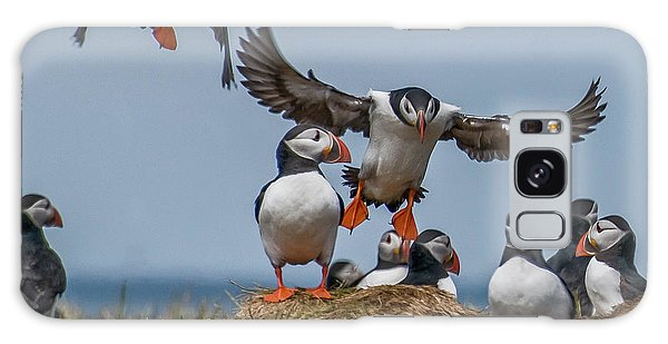 Puffins Galaxy Case by Brian Tarr