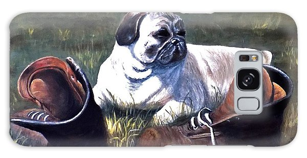 Pug And Boots Galaxy Case