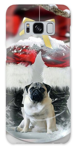 Pug And Santa Galaxy Case