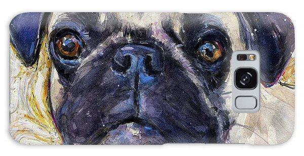 Pug Mug Galaxy Case by Molly Poole
