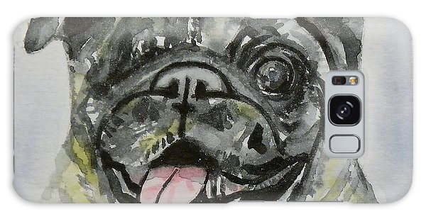 One Eyed Pug Portrait Galaxy Case