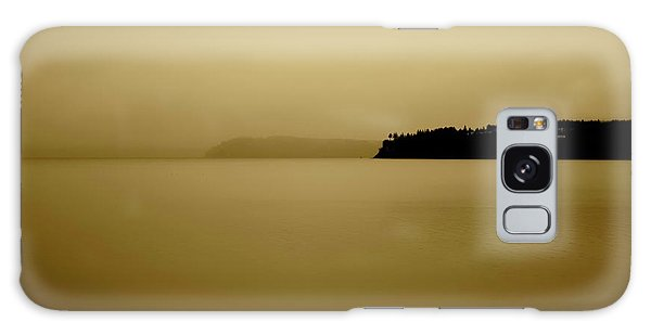 Puget Sound In Sepia Galaxy Case