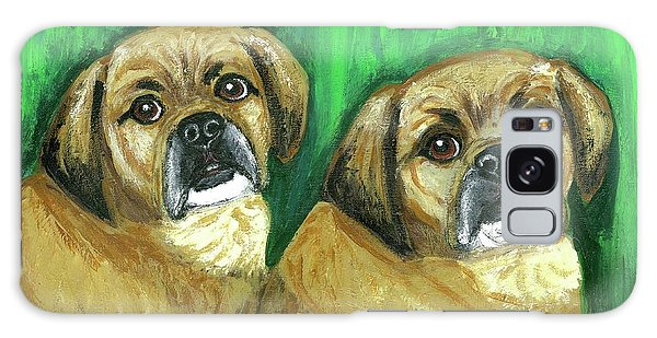 Puggles Bruno And Louie Galaxy Case