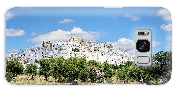 Puglia White City Ostuni With Olive Trees Galaxy Case