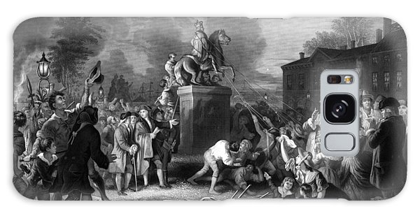 Monarch Galaxy Case - Pulling Down The Statue Of George IIi by War Is Hell Store