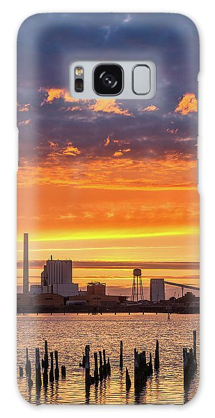 Pulp Mill Sunset Galaxy Case by Greg Nyquist