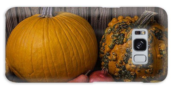 Mottled Galaxy Case - Pumpkin Autumn Still Life by Garry Gay