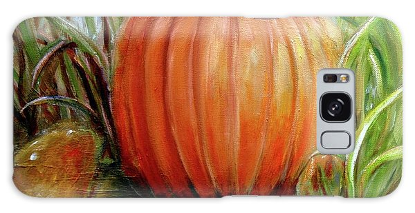 Pumpkin Patch  Galaxy Case by Bernadette Krupa