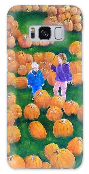 Pumpkin Patch Galaxy Case by Ellen Canfield