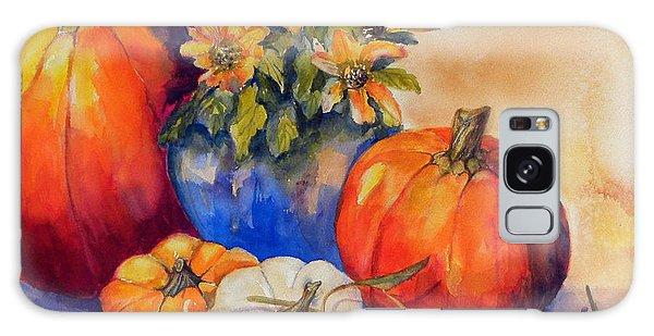Pumpkins And Blue Vase Galaxy Case
