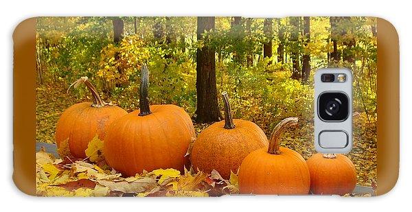 Pumpkins And Woods-iii Galaxy Case