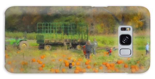 Pumpkins At Langwater Farm Galaxy Case