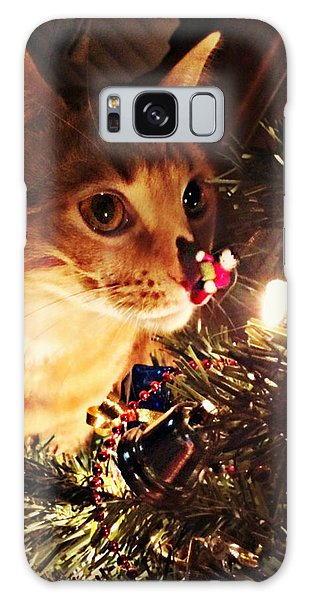 Pumpkin's First Christmas Tree Galaxy Case