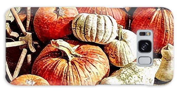 Pumpkins In The Barn Galaxy Case