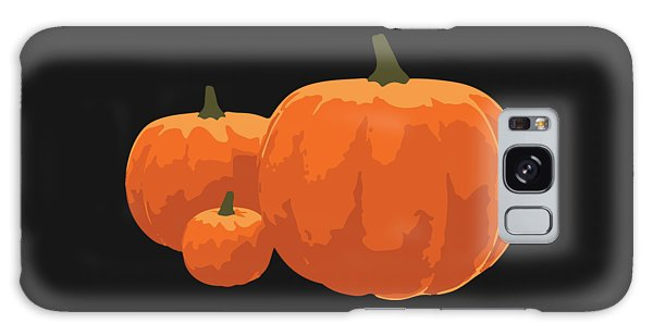 Galaxy Case featuring the painting Pumpkins by Jennifer Hotai