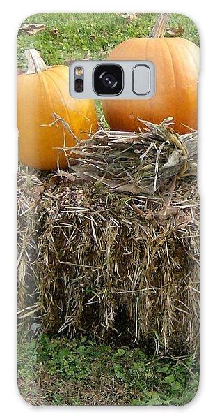 Pumpkins On A Haystack Galaxy Case