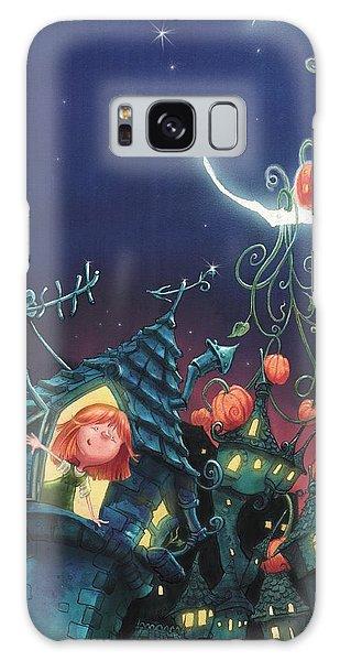 Pumpkins On The Moon Galaxy Case