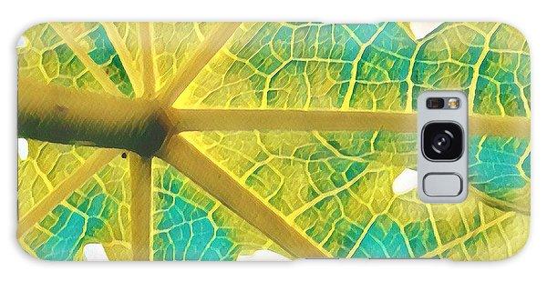 Puna Papaya Leaf Galaxy Case
