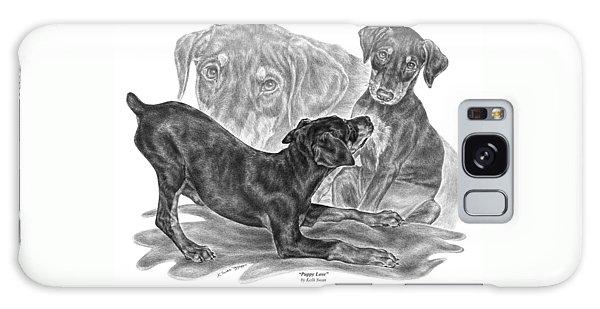 Puppy Love - Doberman Pinscher Pup Galaxy Case
