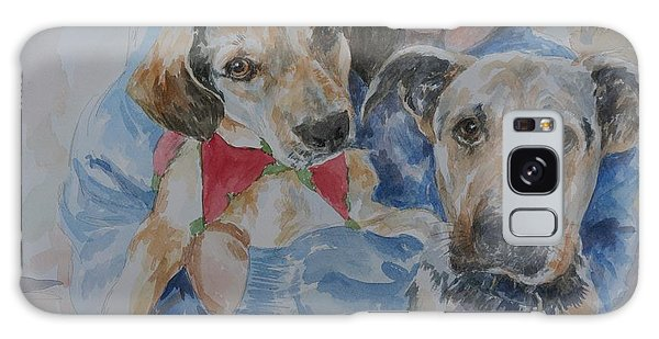 Puppy Love Galaxy Case by Gloria Turner