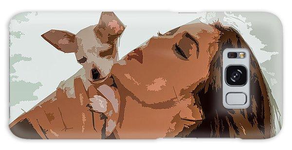 Puppy Love Galaxy Case by Josy Cue
