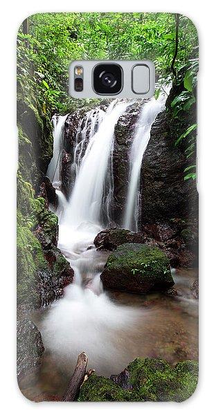 Galaxy Case featuring the photograph Pura Vida Waterfall by David Morefield