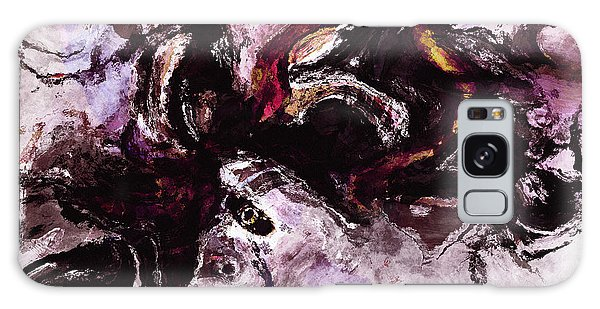 Purple Abstract Painting / Surrealist Art Galaxy Case by Ayse Deniz