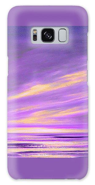 Purple Abstract Sunset Galaxy Case