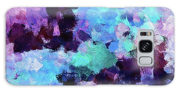 Purple And Blue Abstract Art Galaxy Case by Ayse Deniz