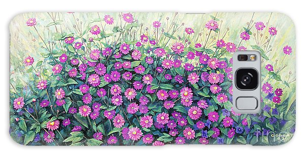 Purple And Pink Flowers Galaxy Case