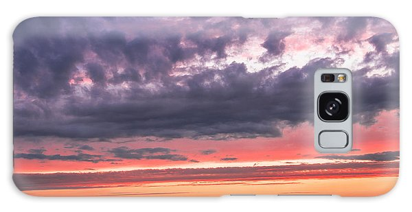 Purple And Red Sky Over Warsaw And Vistula River Galaxy Case