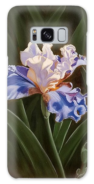 Purple And White Iris Galaxy Case
